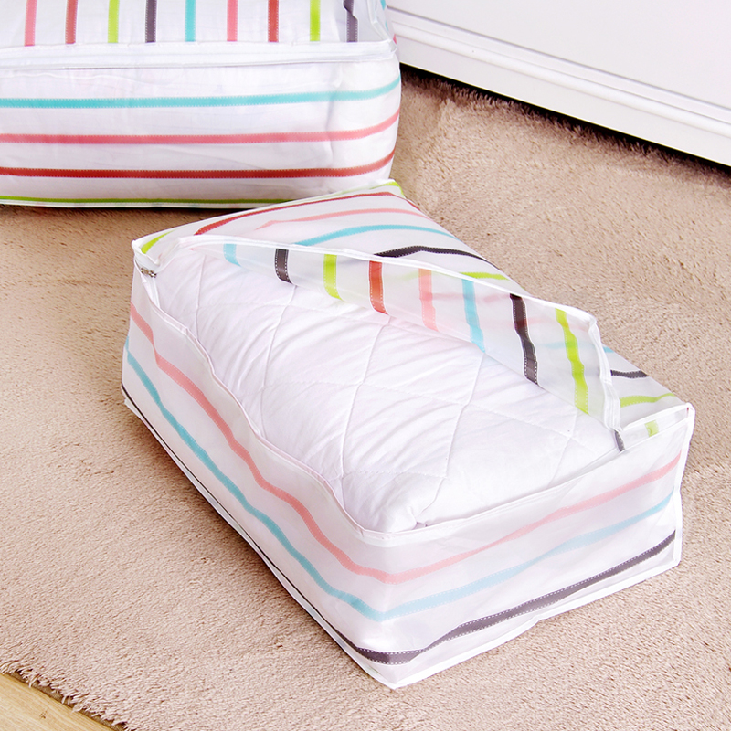WHISM PEV Foldable Storage Bags Clothing Bedding Holder Comforter Dustproof Cover Wardrobe Blanket Organization Closet Quilt Bag