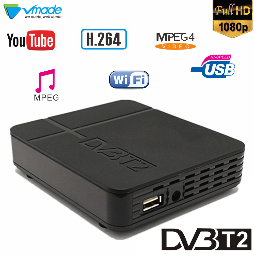 Vmade DVB T2 High Digital Terrestrial Signal Receive Dvb T2 K2 Support H.264 Youtube Megogo Dvb Tv Box Full Hd 1080p Set Top Box