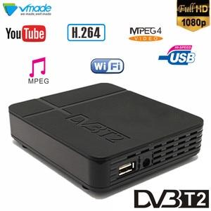 Image 1 - Vmade DVB T2 high digital terrestrial signal receive dvb t2 k2 support H.264 YouTuBe Megogo dvb tv box full hd 1080p set top box