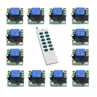 DC 12V 10A Single-channel Wireless Relay Remote Control Switch 315MHz 12CH White Remote Control new arrival SKU: 5469