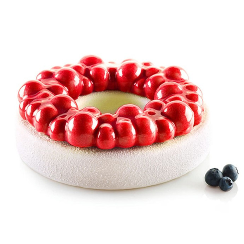 Silicone Cake Mold Cherry BUBBLE CROWN Shape Mold Chocolate Mousse Mould Baking Decorating Tools Bakeware Accessories in Cake Molds from Home Garden