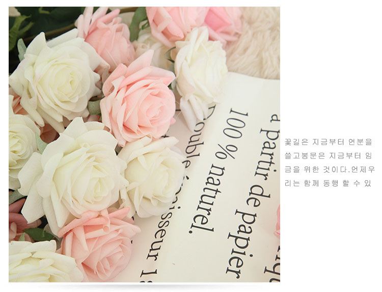 Real touch roses artificial flower wedding home decoration (12)