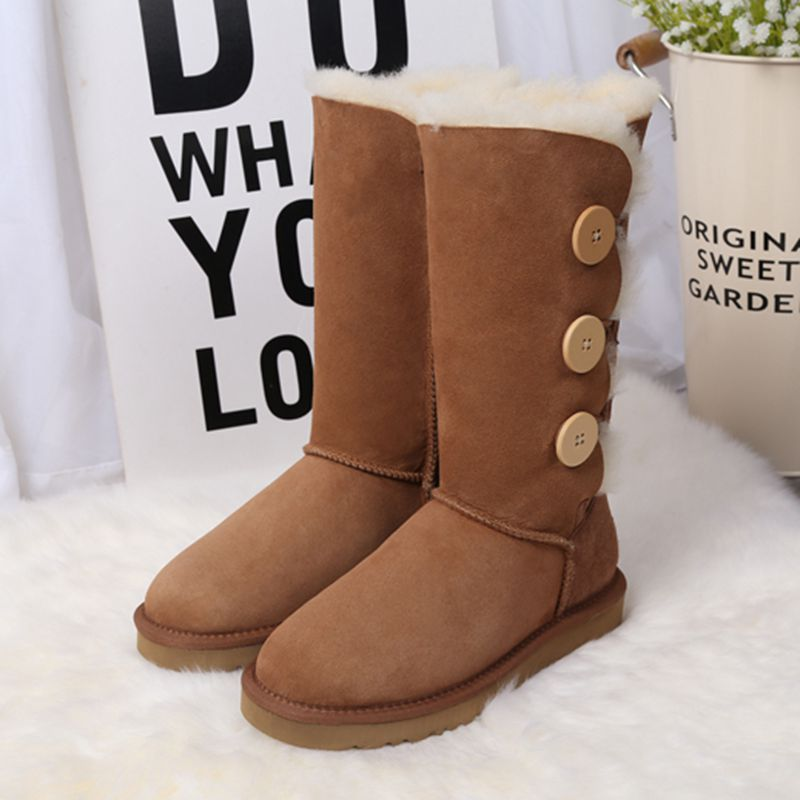 High Quality 100% Natural Fur snow boots Genuine sheepskin leather  Women Boots Winter warm Wool High boots new fashion brand women snow boot genuine sheepskin leather snow camouflage boots natural fur winter boots warm wool women boots