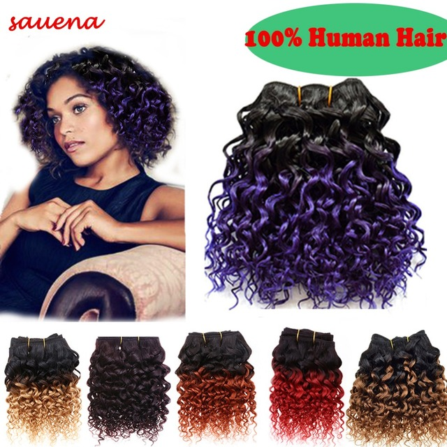 1Bundle/lot 50g/Bundle 8Inch Brazilian Virgin Hair Short Size Deepwave Human Hair Weaving 100% Human Hair Extension