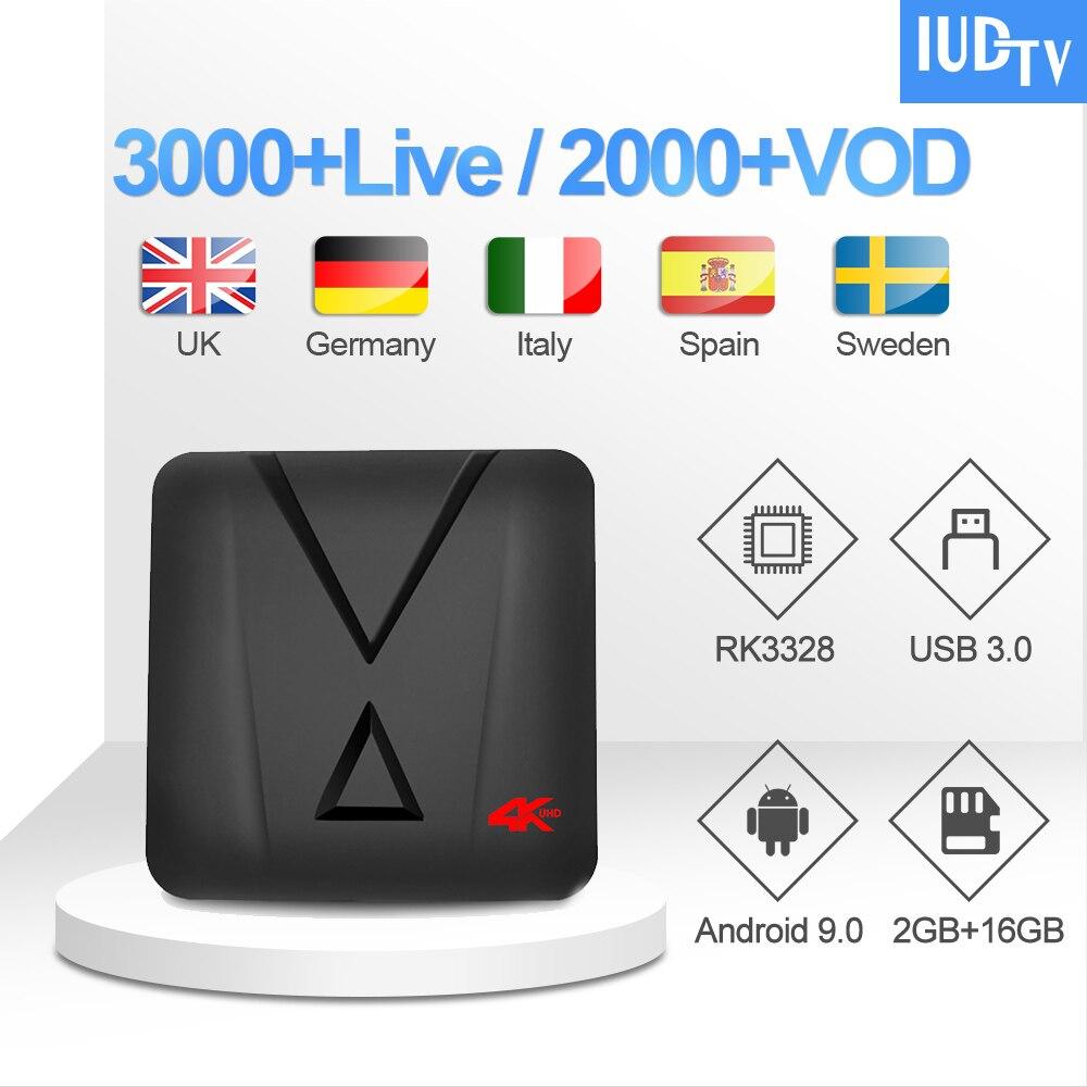 UK Swedish IPTV IUDTV Code MX10 mini Arabic Germany Subscription Set Top Box Spain Greece India Italy FULL HD IP TV