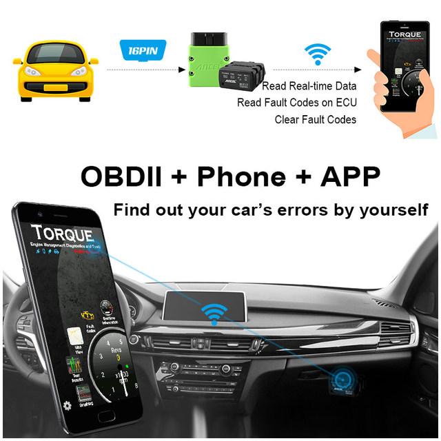 Ancel OBD2 Scanner ELM327 WIFI V1.5 Supports Android/iOS/Windows Engine Code Reader ELM 327 Wi-Fi OBD Diesel Car Diagnostics