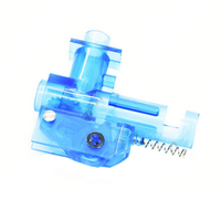 Surwish FB Plastic First Generation T Head for M 4 No.2 Wave Box Modified Transparent Blue