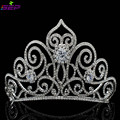 New 2016 Tall Tiara Crown with Clear Really Austrian Crystals Bridal Wedding Hair Jewelry Accessories Pageant Headband SHA8446