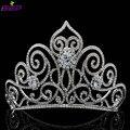 Nuevo 2016 Tall Corona de La Tiara con Claro Realmente Cristales Austríacos Joyería Nupcial Pelo de La Boda Accesorios Pageant Diadema SHA8446