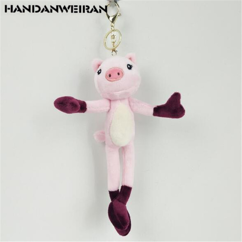 Handanweiran 1pcs Plush Long Legged Pig Toy Keychain Creative Cute Pigs Pendant Stuffed Toys Wedding Holiday Event Gift 24cm An Enriches And Nutrient For The Liver And Kidney Toys & Hobbies Stuffed & Plush Animals