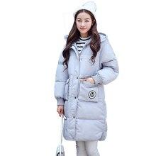 Корейский 2016 Новая Зимняя Длинный Хлопок Куртка Женщин С Капюшоном С Длинным Парки Теплая Верхняя Одежда Army Green Пальто Женщин Abrigos Mujer YC485