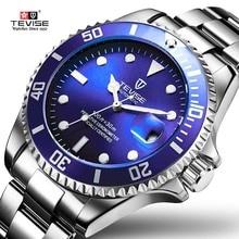 Tevise Лидирующий бренд Для мужчин механические часы роль Дата fashione Роскошные Submariner часы мужской Reloj Hombre Relogio Masculino