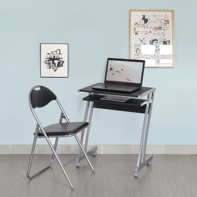 Aingoo Computer Desk And Chair Set Black Laptop Computer Stand Table Desk  New Design For Reading
