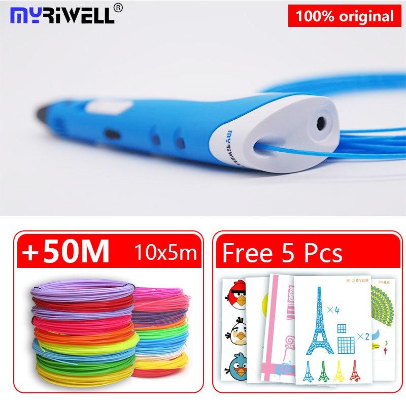 myriwell 3d pen rp100a abs filament pla 1.75mm 3d printed pen 3 d pen Arts 3d pens For Kids Drawing Tools 3D handle abs plastic