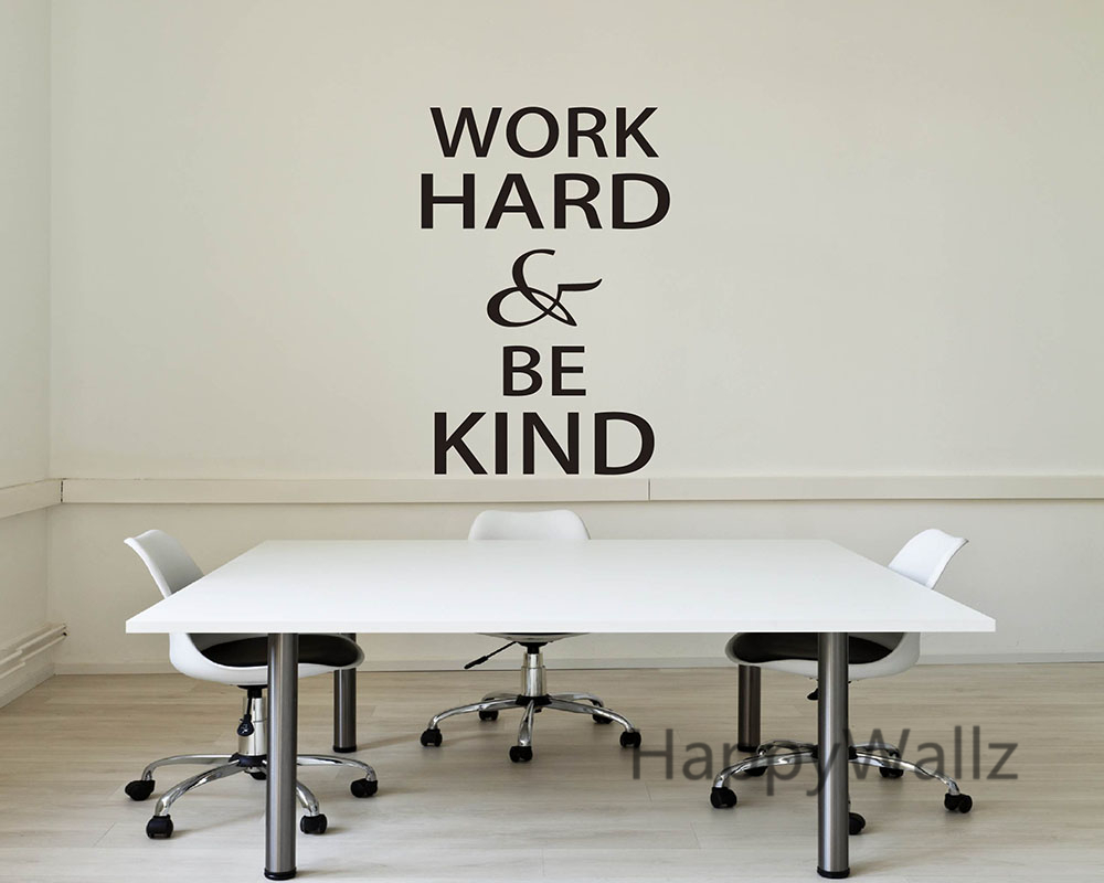 work hard be kind motivational quotes wall sticker diy