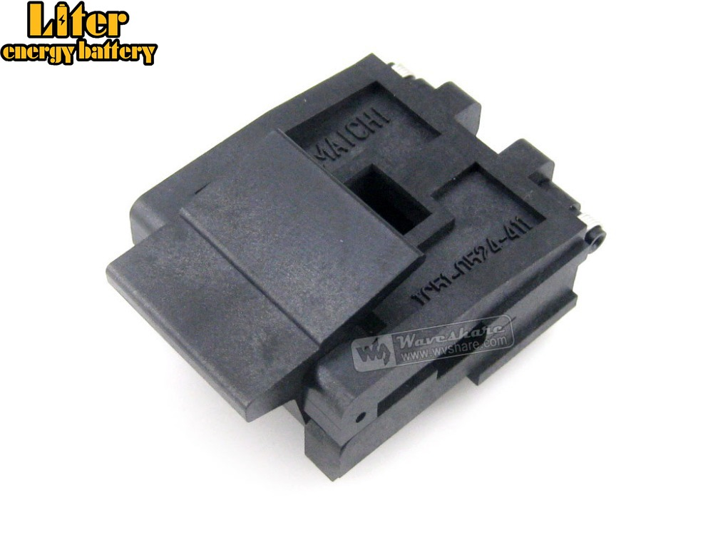IC51-0524-411-1 Yamaichi IC Burn-in Test Socket Adapter 1.27mm Pitch PLCC52 Package