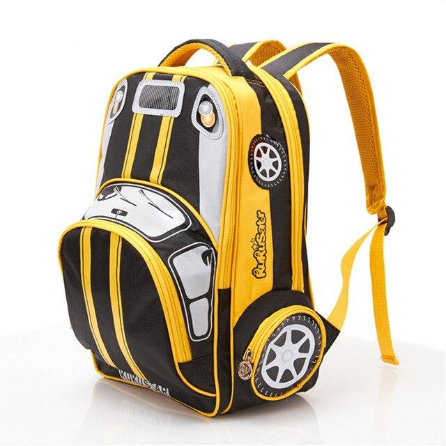 2018 Hot Sale SchoolBag Children Primary School Student 1-3-6 3D Car Lightening School Bag Boys GIft Backpacks Mochila Infantil