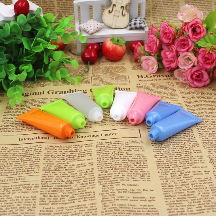 10PCS 5 ML Colorful Empty Cream Tubes Cosmetic Lotion Container Travel Sample Bottle