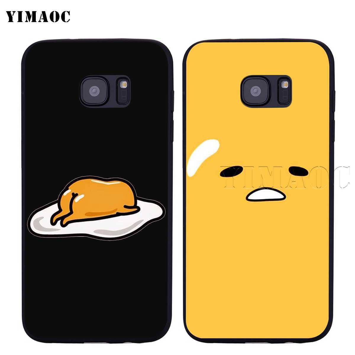 YIMAOC Gudetama 怠惰な卵サムスンギャラクシー A7 A8 A9 A10 A20 A30 A40 A50 A70 M10 M20 M30 s10 S10e J6 プラス