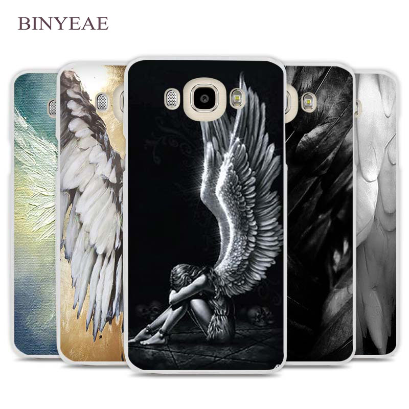 BINYEAE angel wings Cell Phone Case Cover for Samsung Galaxy J1 J2 J3 J5 J7 C5 C7 C9 E5 E7 2016 2017 Prime
