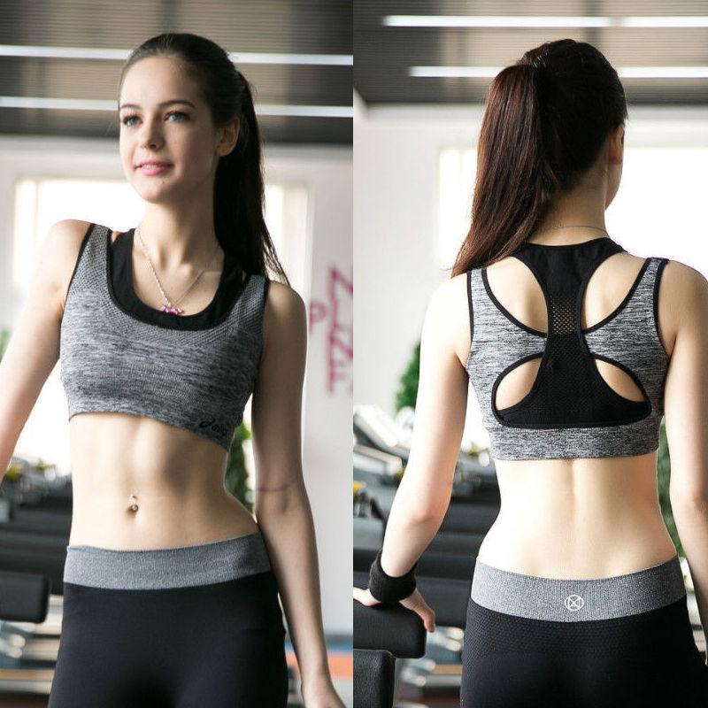 Women Lady Seamless Sports Padded Bra Stretch Running Yoga Fit Workout Underwear