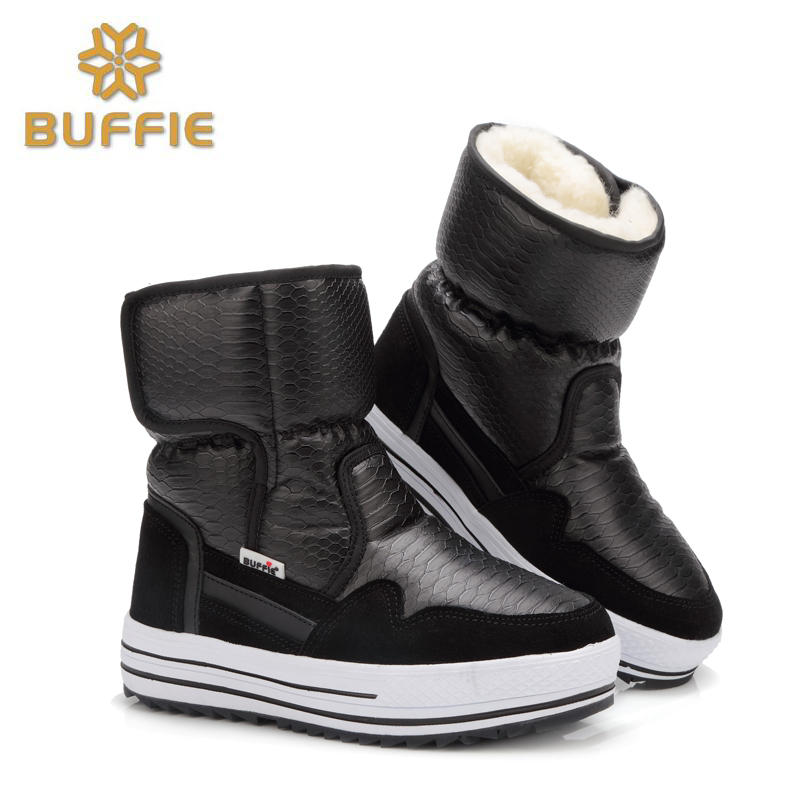 2016 New Arrival Lightweight Waterproof Women Mid calf Snow Boots Non slip Warm Thickening Cotton Shoes