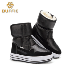 2016 New Arrival Lightweight Waterproof Women Mid-calf Snow Boots Non-slip Warm Thickening Cotton Shoes Size 36-41 Available