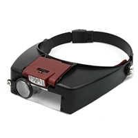 Behogar Lupe microscopio lupa de cristal Led luz cabeza lámpara Lupas Con luz LED lectura o reparación de uso para
