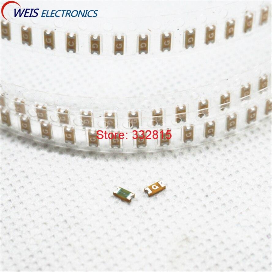 ̿̿̿(•̪ )Envío libre! 50 unids 1206 fusible SMD 0.75A 750mA 63 V ...