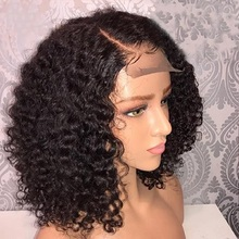 Brazilian Jerry Curl Wig Curly Lace Front Human Hair Wigs Lace Frontal Wig Short Bob Pre Plucked With Baby Hair For Black Women
