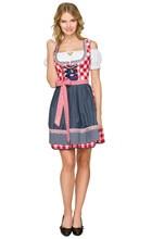 Vocole Women Sexy Red Plaid Bavaria Oktoberfest Costume Germany Dirndl Beer Girl Wench Heidi Fancy Dress