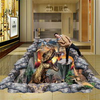 beibehang papel de parede 3D stereoscopic illusion paintings wall painted murals graffiti art 3D Diamond waterfall mural