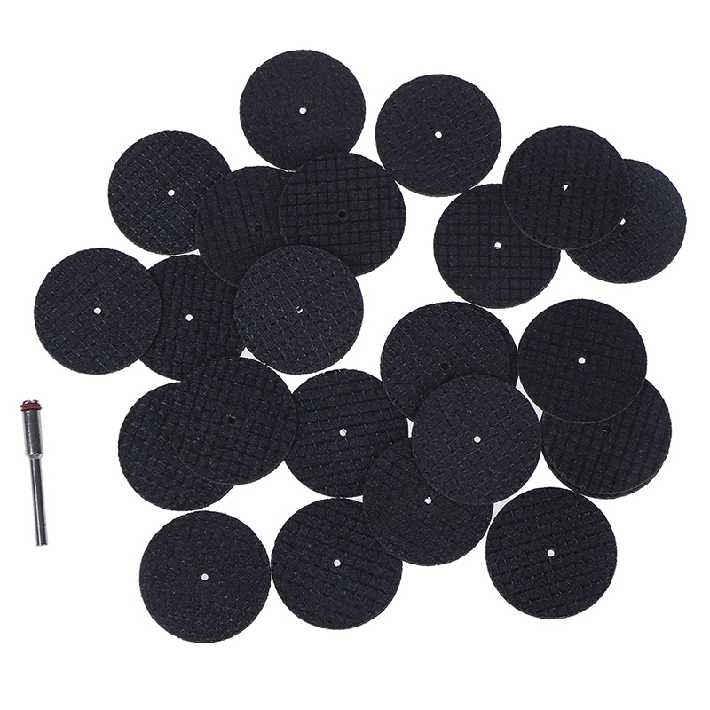 25pcs Saw Blade + 1pcs Connection Clamp Fiberglass Reinforced Cut Off Wheel Disc W/ 1 Mandrel 1/8