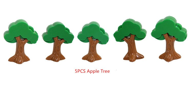 5pcs apple tree