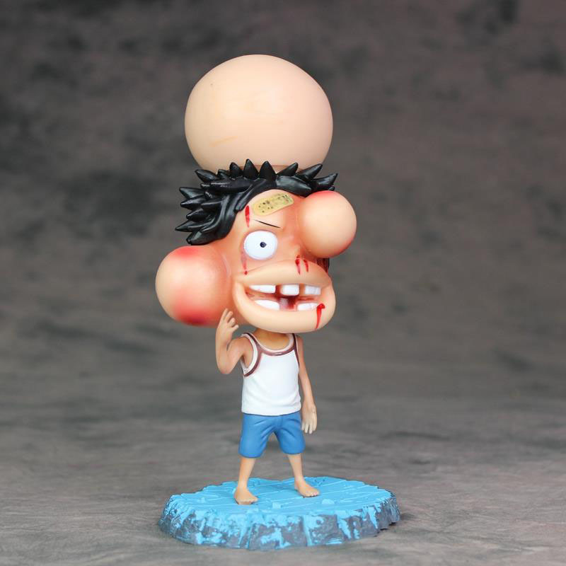 Luffy Action Figure 1/8 Scale Painted Figure Monkey D Luffy Pvc Figure Toy Brinquedos Anime At All Costs Hard-Working One Piece Swollen Face Ver Toys & Hobbies