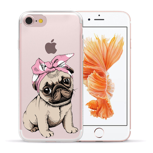Silicone Cute Dogs Printed Phone Cases