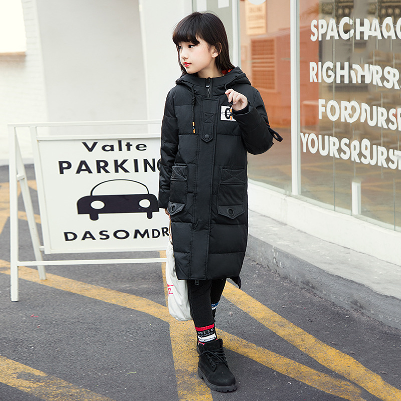 Down Jacket Girl Winter Children In The Long Section of 2017 New Winter Clothing Korean Thickening Down Jacket Children's hormonal key players for obesity in children with down syndrome