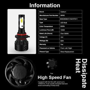 Image 4 - Roadsun LED Fari Lampadine Led H4 H7 H11 H1 9005 9006 HB3 HB4 Lumileds ZES Chip 12V 6000K auto Lampada Auto