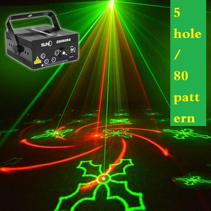 The latest 5-hole pattern 80 Laser Light Sound Stage Laser Light ktv Bar flash