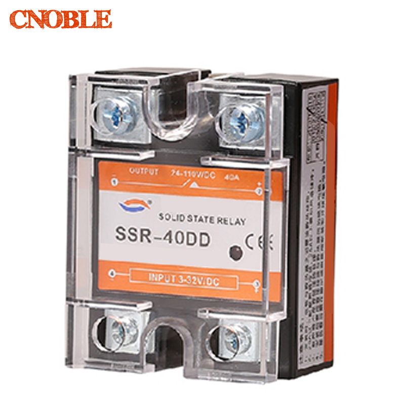 цена на SSR -40DD 40A DC control DC SSR white shell Single phase Solid state relay 10A input 3-32V DC output 5~60V DC