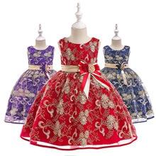 Summer Baby Girls Dress 2019 Wedding Party Princess Dresses Embroidery Kids Dressed for Girls Floral Kids Vestido Ball Gown цены