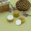 Free shipping 15g bamboo scream jars with PP inner for cosmetics, makeup etc 15ml bamboo jars