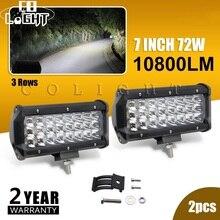 CO LIGHT Diode émettrice de lumière 2 pièces, 72W, 7 pouces lampes de travail Led, pour Auto 4x4, exploitation minière, 12V 24V, Lada Niva