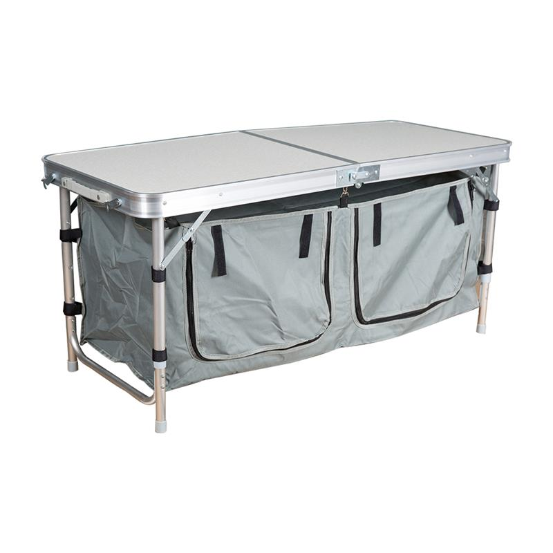... Portable Camping Table Aluminum Folding Indoor Outdoor Picnic Camping  Table With Storage Bag ...