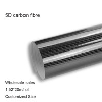 5D Carbon Fiber Vinyl Film Wrap Sheet Roll Film Automobiles Motorcycle Bicycle Car Styling Accessories Size