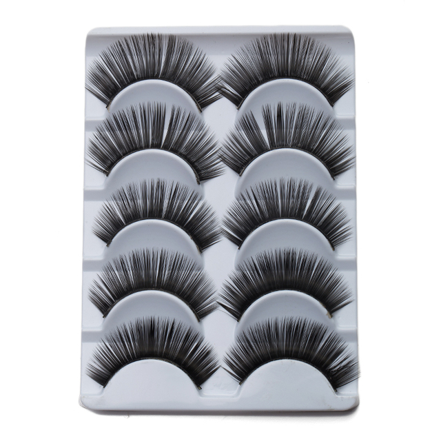 Charming Black Curling Eyelashes Cute Human Hair Eyelash Fake