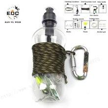 EDC 10 in1 de Autoayuda Al Aire Libre Que Acampan Yendo de Supervivencia de La Emergencia Gear Kit Sí tactical survival kit hervidor de agua filtro de carbón activado
