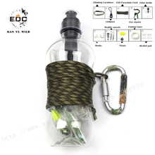EDC 10 in1 Self Help Outdoor Camping Hiking Emergency Survival Gear activated carbon filter kettle Kit Se tactical survival kit