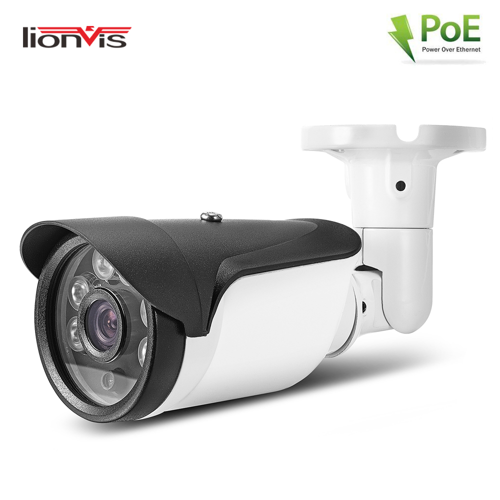 PoE IP Camera Full HD 1080P ONVIF Network Security Camera 6 Array Led Day Night Vision Outdoor IP67 Waterproof Bullet Camera full hd poe camera 48v poe ip camera 720p ip camera poe outdoor bullet security camera onvif
