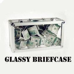 Портфель Glassy, магический трюк, пустый прозрачный портфель, показ банкнот, цветы, волшебник, сценические иллюзии, трюк, реквизит, Забавный